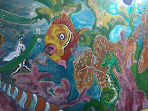 Mural detail at Fish Factory