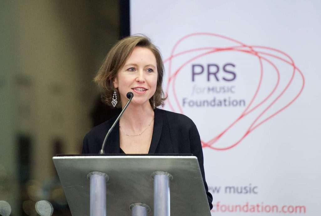 PRS for Music Foundation presents Composer Focus 25th February 2016 at London's Living Room, City Hall, London, Great Britain Vanessa Reed (Executive Director PRS for Music Foundation) Panel discussions: Photograph by Elliott Franks Image licensed to Elliott Franks Photography Services